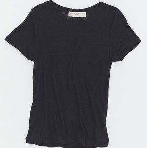 Urban Outfitters Ribbed Sheer T-shirt